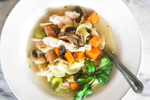 Chicken Noodle Soup with Mushrooms to Boost Immunity | 31Daily.com