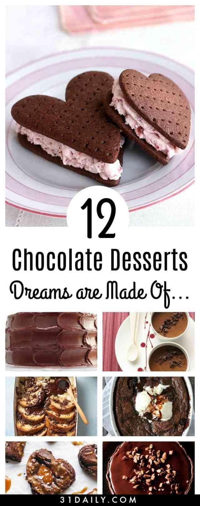12 Chocolate Desserts Dreams are Made Of   31Daily.com