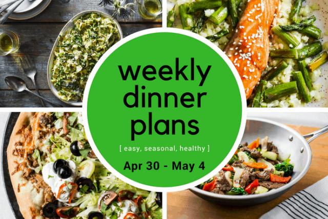Weekly Dinner Meal Plan // Week 18   31Daily.com