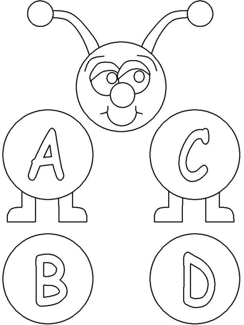 free printable coloring pages abc 2015