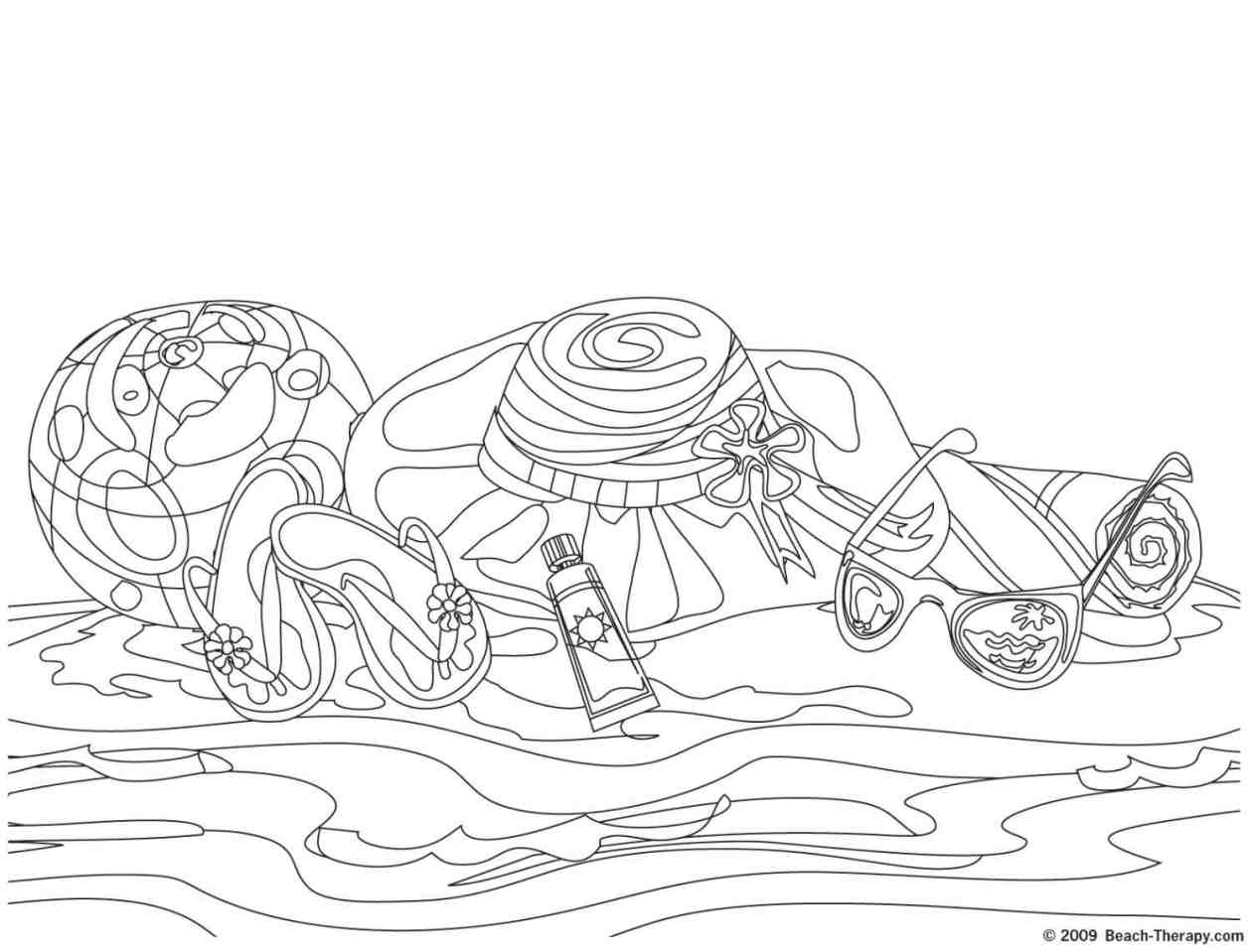 Free coloring pages of the seaside
