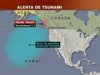 Gràfic del sisme i el posterior tsunami