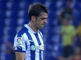 Víctor Sánchez reflectia la decepció general de l'equip en acabar el partit.