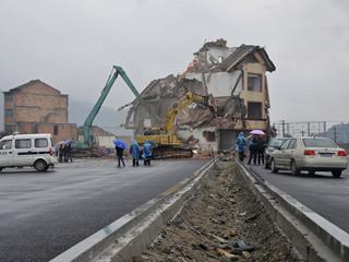 La casa s'havia convertit en tot un símbol de resistència a la Xina (Foto: Reuters)
