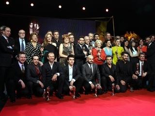 Els premiats a la cinquena edició dels premis Gaudí (Foto: ACN)