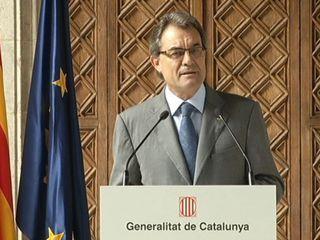 El president Artur Mas, al Palau de la Generalitat