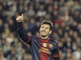 Messi celebrant el gol 86 (Foto: EFE)
