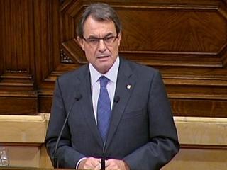 El president de la Generalitat, Artur Mas, al Debat de Política General