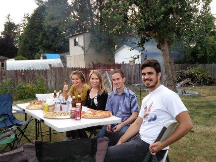 Pizzaparty bei Jenny in Mountlake Terrace