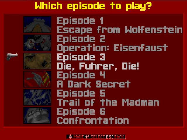 Wolfenstein 3D Episodes