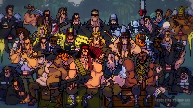 Broforce characters