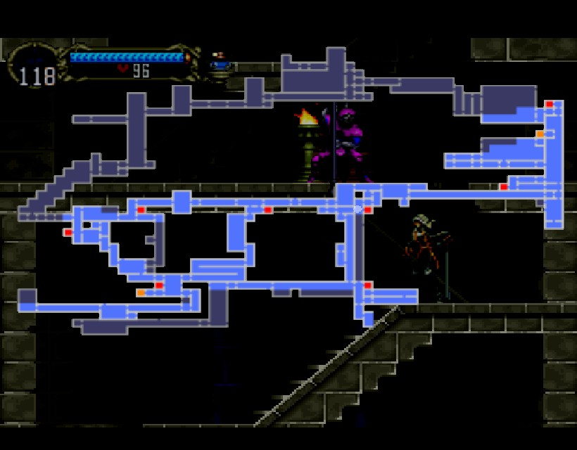 SOTN Castle Map   336GameReviews on mass effect map, mario galaxy map, dawn of sorrow map, symphony map, game map, castlevania map, simons quest map,