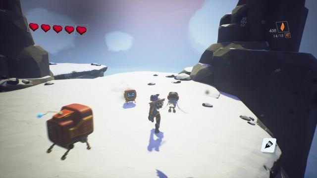 Skylar and Plux Adventure on Clover Island Snow