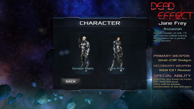 Dead Effect Characters