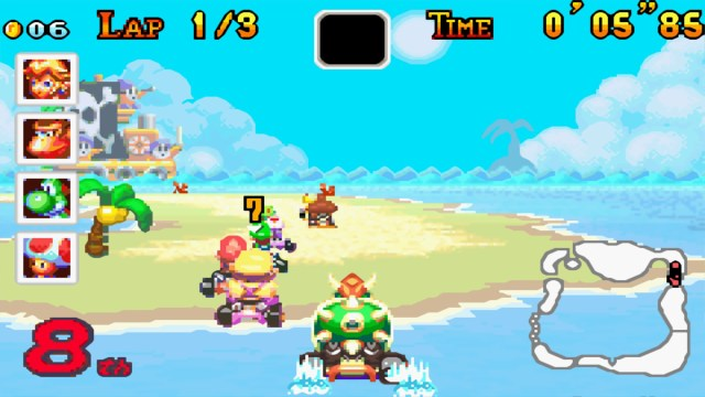Mario Kart Super Circuit Bowser