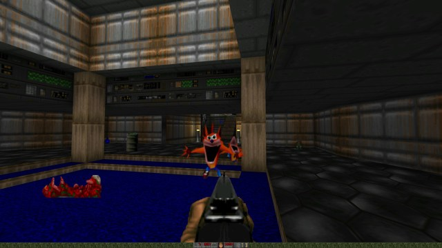 Doom Crash Bandicoot Lunge