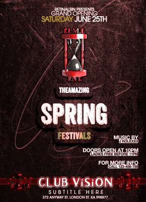 Club Vision Spring Festivals Flyer