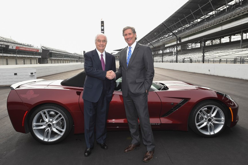 Roger Penske and Tony George announce the sale of IMS