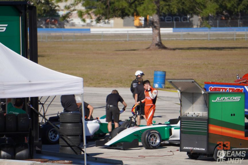 Matt Round-Garrido at Sebring - Indy Pro 2000 Testing with Juncos Racing