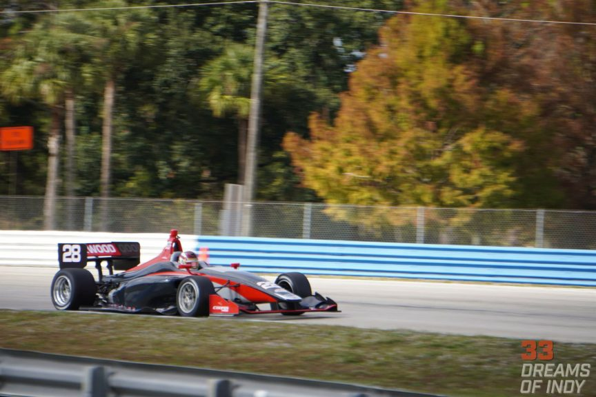 Kyle Kirkwood at the December 2019 Sebring Indy Lights Test with Andretti Autosport