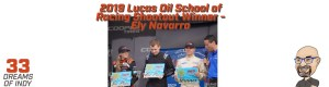 Ely Navarro - Winner of the Lucas School of Racing Shootout