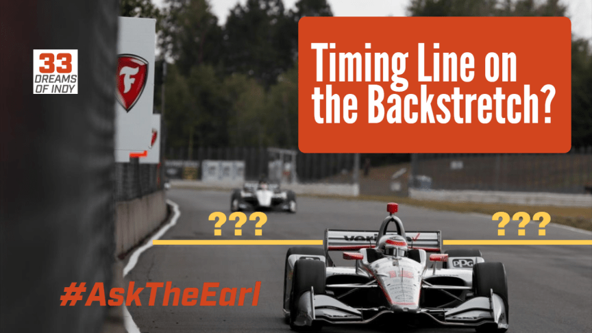 Ask The Earl - IndyCar Qualification Timing Line