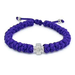Adjustable Dark Purple Prayer Rope Bracelet-0