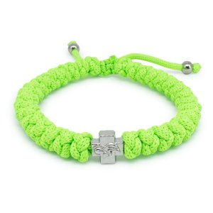 Adjustable Neon Green Prayer Rope Bracelet-0