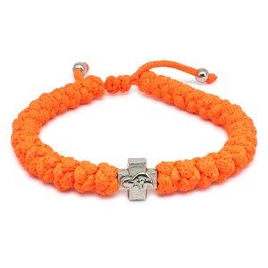 Adjustable Neon Orange Prayer Rope Bracelet-0