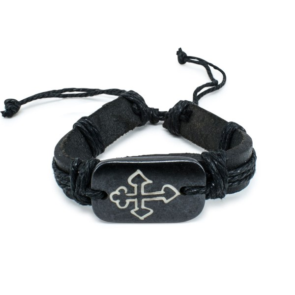Dark Brown Leather Orthodox Bracelet-0