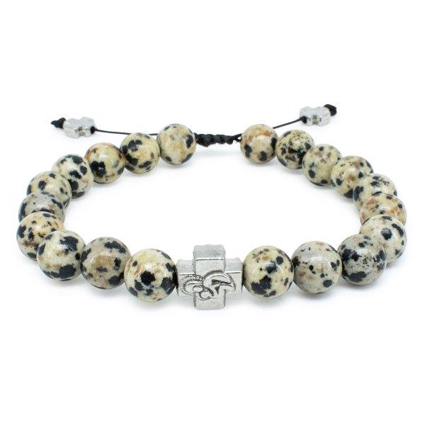 Jasper Dalmation Stone Orthodox Bracelet-0