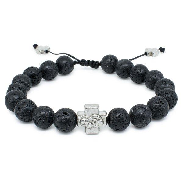 Lava Stone Orthodox Bracelet-0