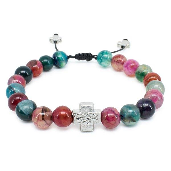 Multi Color Agate Stone Orthodox Bracelet-0