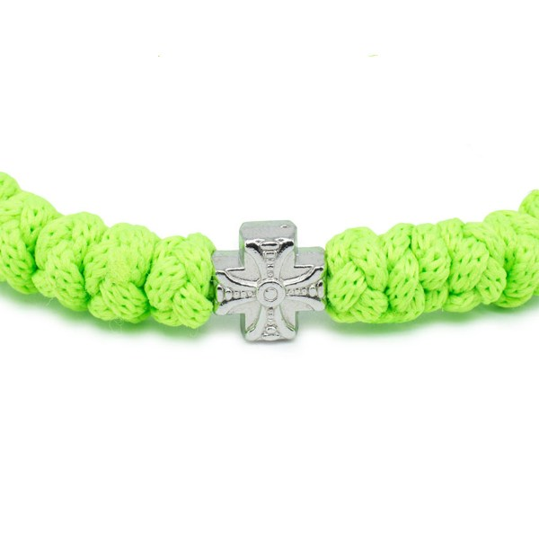 Neon green prayer bracelet