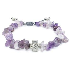 Purple Amethyst Stone Chips Orthodox Bracelet-0