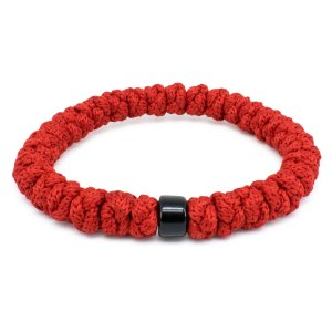 Red Prayer Rope Bracelet with Bead-0
