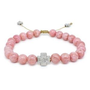 Rose Candy Jade Stone Orthodox Bracelet-0