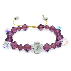 "Swarovski Crystal Orthodox Bracelet ""Purple Rain""-0"