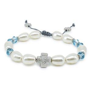 "Swarovski Pearl and Crystal Orthodox Bracelet ""Sophie""-0"