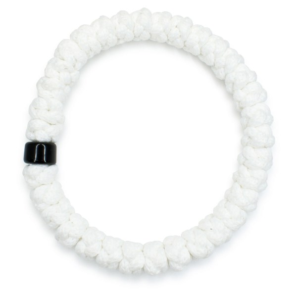 White prayer bracelet with bead