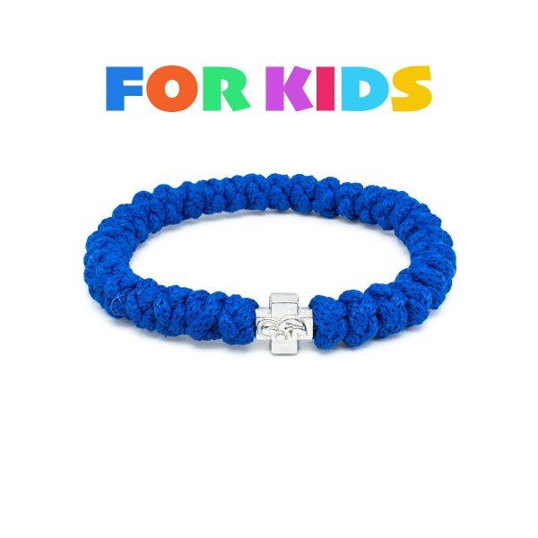 Blue Prayer Rope Bracelet for Kids