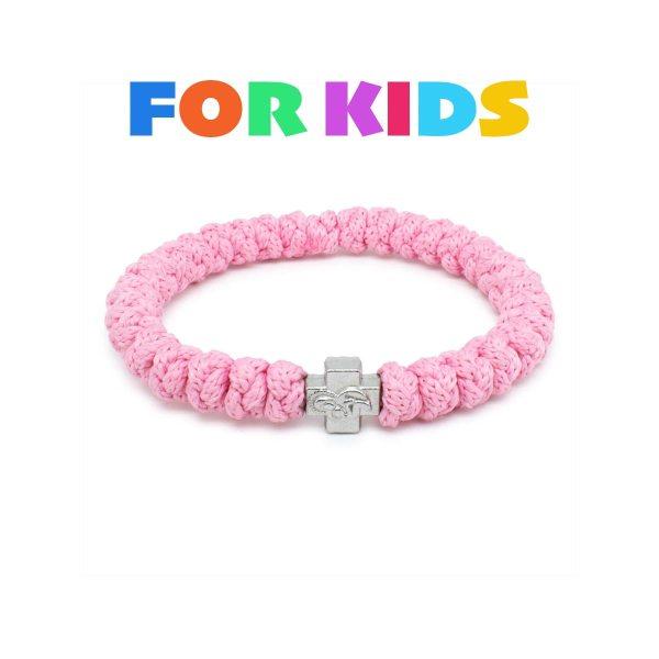 Rose Prayer Rope Bracelet for Kids