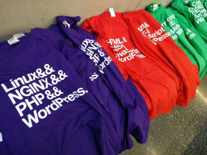 Some of our lovely WordPress swag