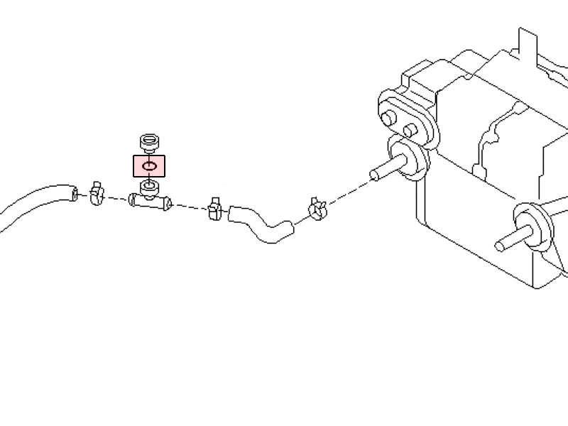 350z rear coolant air relief valve/ bleeder T piece