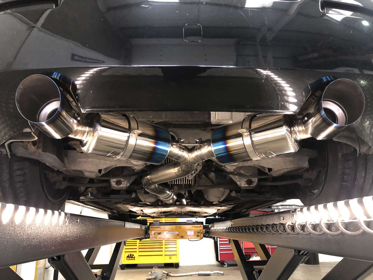 torqen 350z tomei dual exhausts and