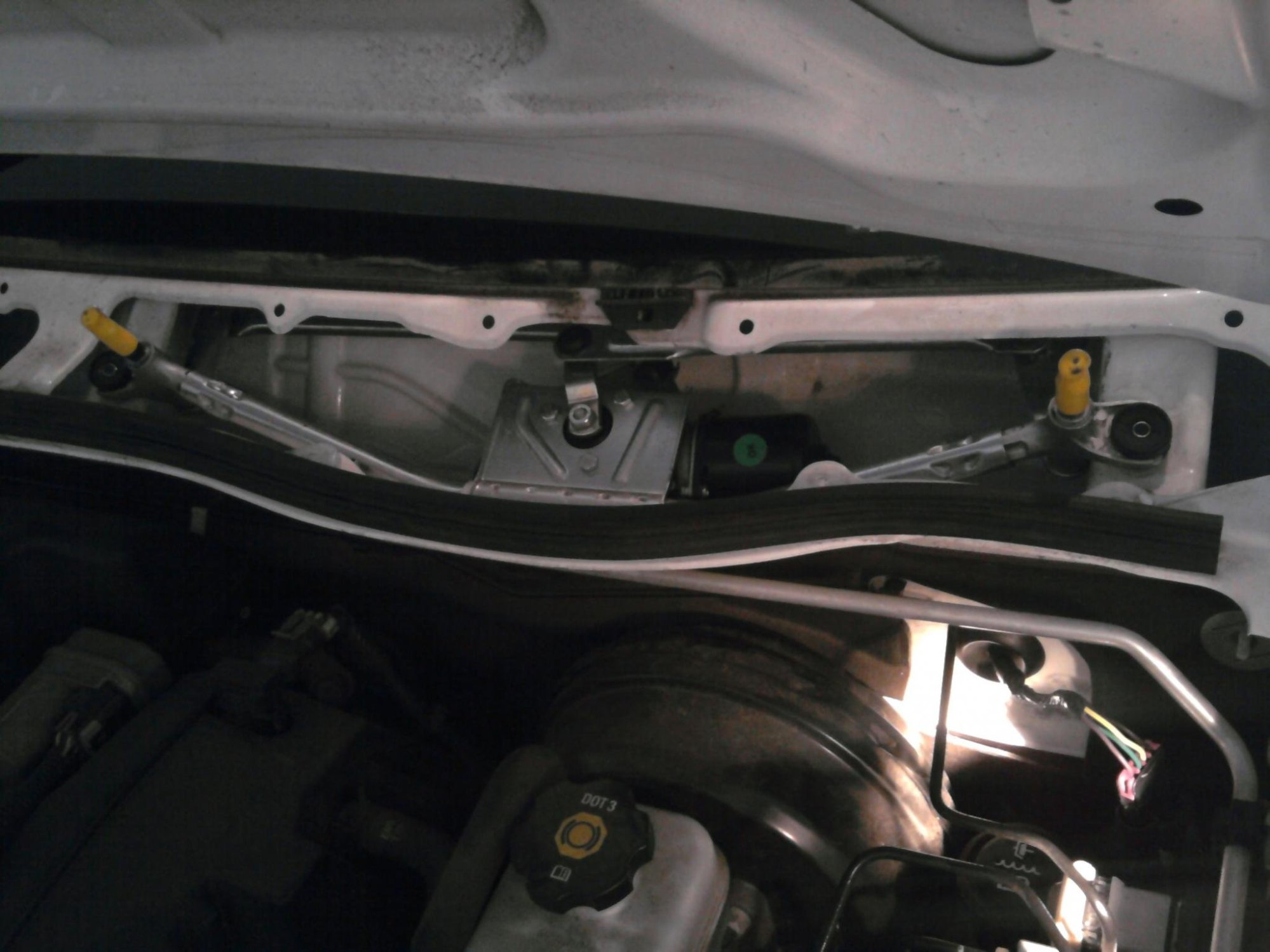 hight resolution of  installed new wiper motor and linkage wiper install jpg
