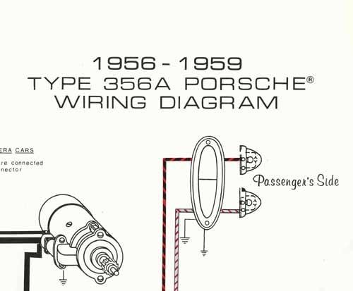 porsche® 19561959 wiring diagram poster  ynz's 356
