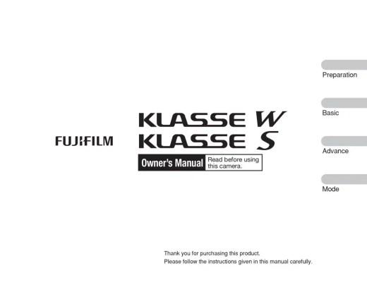 Fuji Klasse w compact camera english manual