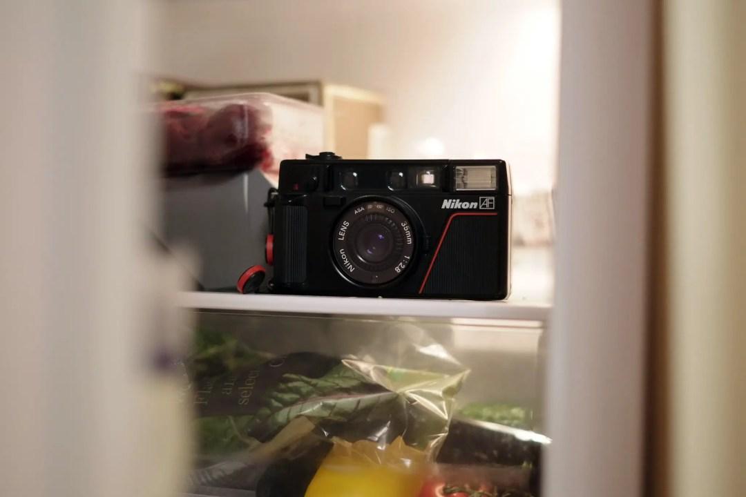 A Nikon L35AF in the fridge