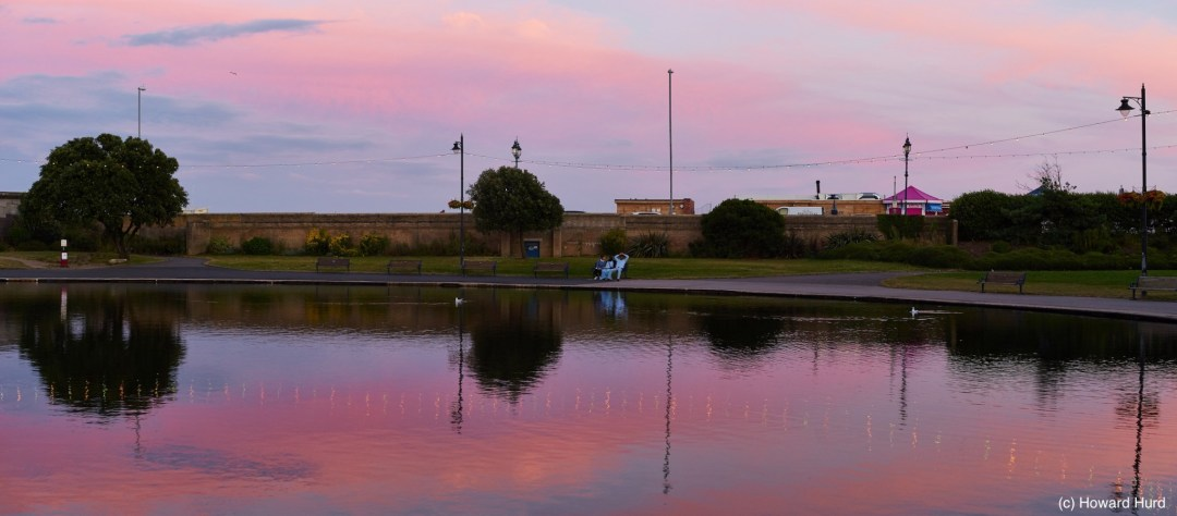 Canoe Lake, Southsea - 2-shot panorama taken with Industar N-61 lens on Sony a7